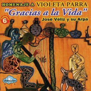 """José Véliz y su arpa """"Gracias a la vida"""""""